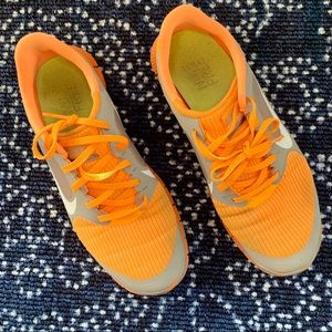 Nike Free Women's 10 orange and gray